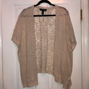 Forever 21 Tan Cardigan Small